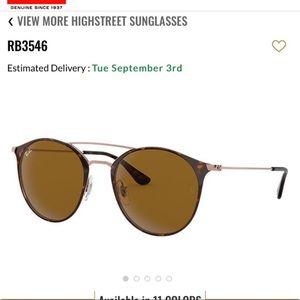 New Ray-ban sunglasses RB3546